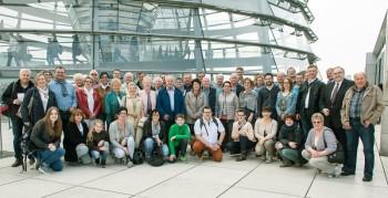 Gruppe aus Gudensberg-Dorla besuchte Bernd Siebert in Berlin. Foto: nh