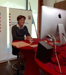 Lucia Puttrich stand Rede und Antwort. Foto: nh