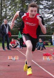 Lars Werner zeigte sich über 100 Meter stark verbessert. Foto: nh