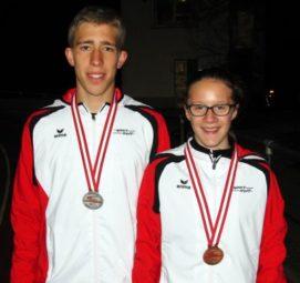 Lorenz Funck und Lynn Olson, die beiden Melsunger Medaillengewinner. Foto: nh