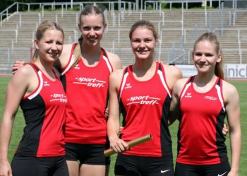 MT Melsungen-Frauen 4x100 Meter. Foto: nh