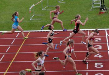Katharina Wagner sicherte sich über 100m den zweiten Platz mit 12,78 Sekunden. Foto: nh