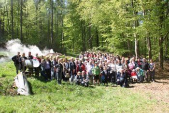 Besuch der Jesberger Kohlenmeiler. Foto: nh