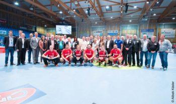 40 Vertreter der nordhessischen Mobilitätswirtschaft waren zum gestrigen Spiel der MT Melsungen vs. Flensburg-Handewitt geladen. Foto: Alibek Käsler