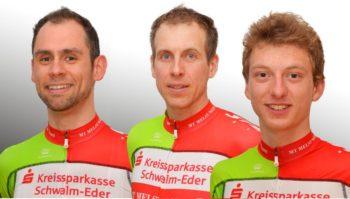 Die Drei Hessenmeister der MT Melsungen: Philipp Sohn, Axel Hauschke und Eiko Berlitz. Foto: nh