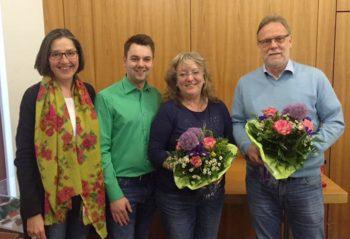 Regine Müller (MdL), Vorsitzender Patrick Gebauer, Ortsvorsteherin Christel Östreich und Erster Stadtrat Detlef Schwierzeck (v.l.). Foto: nh
