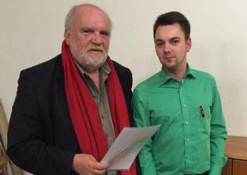 Frank Kristahl und Patrick Gebauer, Vorsitzender der SPD Treysa (v.l.). Foto: nh