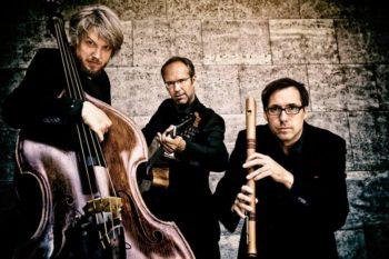 Wildes Holz, das sind Tobias Reisige (Flöten), Anto Karaula (Gitarre) und Markus Conrads (Kontrabass). Foto: Kultursommer Nordhessen