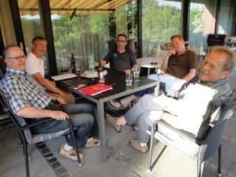 Die Mitglieder der Arbeitsgruppe: Gert Wenderoth, Constantin Thiel, Angelo Bressan, Alexander Wilhelm und Olaf Gemmecker (v.l.). Foto: Gert Wenderoth