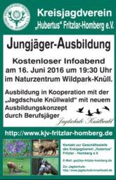 Infoabend zur Vorbereitung auf die Jägerprüfung am 16. Juni.