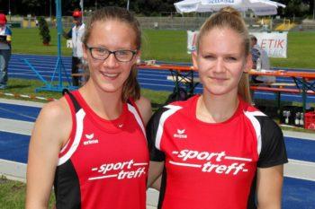 Lynn Olson und Franziska Ebert, die beiden U18-Starter der MT Melsungen bei den süddeutschen Meisterschaften in Heilbronn. Foto: nh