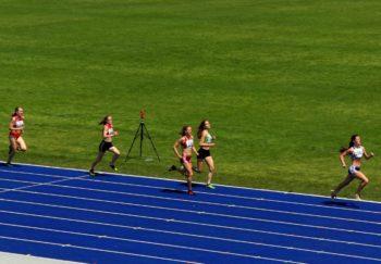 Lynn Olson, auf Platz vier liegend, lief ein tolles Rennen. Foto: nh