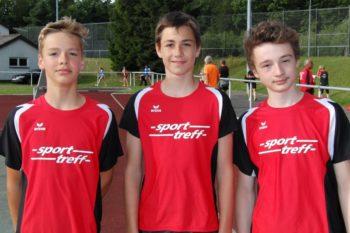 MU16-Sieger wurden über 3x1000m Till Steuber, Yannick Schleider und Lars Werner. Foto: nh