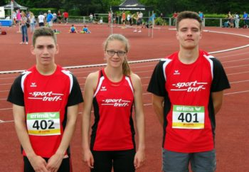 Die drei Melsunger 800-Meter-Läufer bei den Landesmeisterschaften der U20: Marvin Knaust, Lynn Olson und Christian Schulz (v.l.). Foto: nh