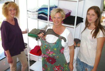 Linde Krug, Petra Scholz und Janna Walper vom allerhand-Team. Foto: Isa Mühling