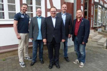 Alexander Kramer, Bernd Kaiser, Jürgen Mück, Dr. Christoph Pohl und Gert Rohde (v.l.). Foto: nh