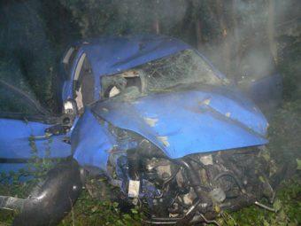 Der völlig zerstörte Polo des 29-Jährigen. Foto: Polizeipräsidium Nordhessen/obs