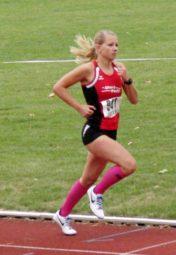 Rabea Pöppe demonstrierte über 400 Meter ihren großen Kampfgeist und verbesserte sich auf 61,34 Sek. Foto: nh