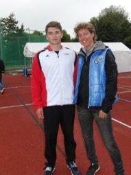 Speerwurf-Weltmeisterin Steffi Nerius war von Henri Alter beeindruckt. Foto: nh