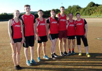 Die sieben Melsunger Athleten, die beim Feriensportfest in Neukirchen an den Start gingen. Foto: nh