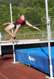 Katharina Wagner scheiterte im Hochsprung erst an der Höhe von 1,55 m. Foto: nh