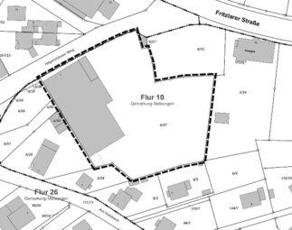 """So ist der Bebauungsplan Nummer 101 """"Sondergebiet Hilgershäuser Weg"""" abgegrenzt. Quelle: Stadt Melsungen"""