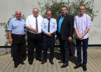 CDU-Vorsitzender und Kreisbeigeordneter Klaus Rehs, Bernd Siebert MdB, Geschäftsführer Jens Schumacher, JU-Kreisvorsitzender Dominik Leyh und Niklas Alheit (v.l.). Foto: nh