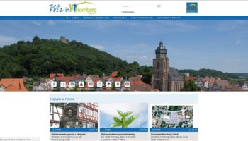 Screenshot der neuen Website. Quelle: www.homberg-efze.de