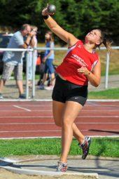 Janina Rohde, die im Kugelstoßen mit 12,08 m überraschte. Foto: nh