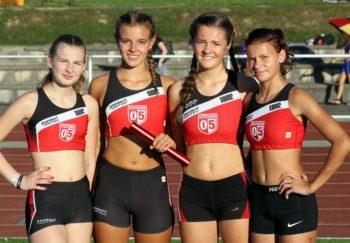 Die erfolgreiche Staffel über 4x100m setzte den Schlusspunkt für die starke Mannschaftsleistung des TSV 05 Remsfeld. Foto: nh