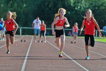 Pia Gille (MT Melsungen) beim 50m-Finale der W11. Foto: nh