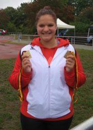 Zweimal Gold für Janina Rohde. Foto: nh