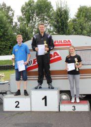 Fabian Schäfer auf dem zweiten Platz Klasse 3 KT in Fulda 2016. Foto: nh