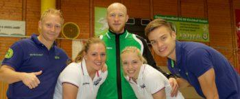 Das Trainerteam der SG 09 Kirchhof: Christian Denk, Eugen Gisbrecht, Dennis Horn, Rica Wäscher und Christin Kühlborn. Foto: SG 09 Kirchhof
