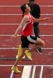Henri Alter im zweiten Versuch. Obwohl er 6,46 Meter sprang, verschenkte er 25 Zentimeter. Foto: nh