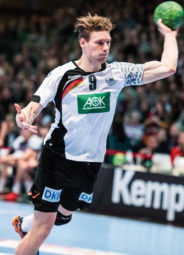 Tobias Reichmann, der künftige MT-Rechtsaussen, gewann im Januar diesen Jahres mit der DHB-Auswahl in Kassel das Länderspiel gegen Island. Foto: Alibek Käsler