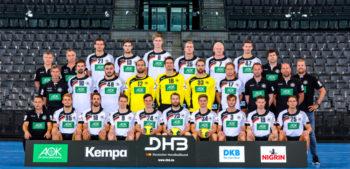 Die deutsche Handball-Nationalmannschaft. Foto: Sascha Klahn/DHB