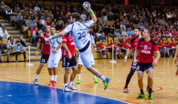 Momir Rnic im Hinspiel in Rijeka, wo ihm vier Tore gelangen. Foto: MT Melsungen