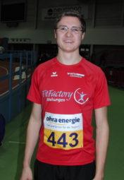 Tobias Stang sicherte sich im Dreisprung mit 12,38 Metern die letzte nordhessische Meisterschaft in diesem Jahr. Foto: nh
