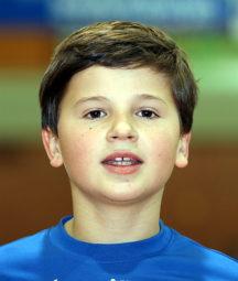 Alexander Ludwig qualifizierte sich für die hessischen Hallenmeisterschaften über 60m Hürden der M14. Foto: nh