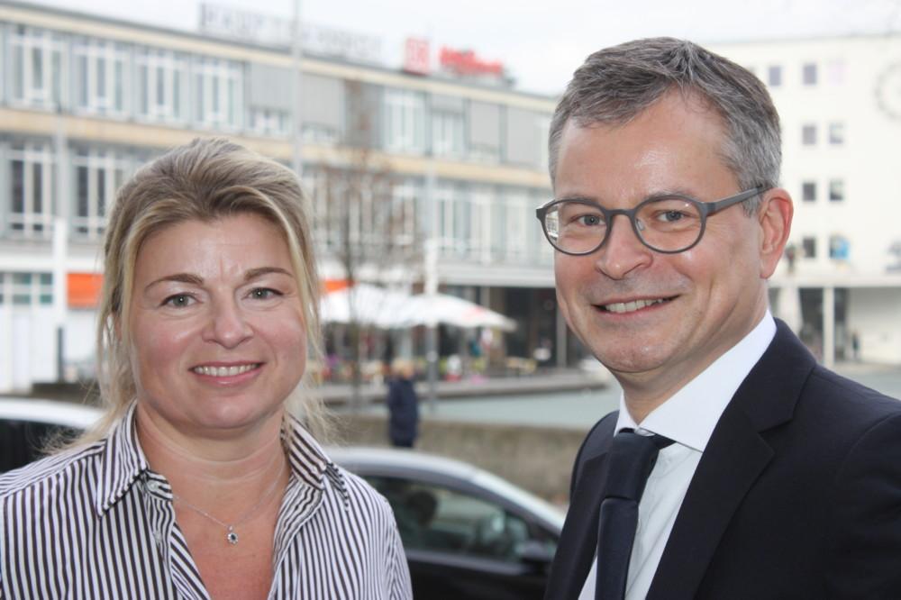 Uta Wudonig und Carsten Heustock. Foto: Beller/IHK
