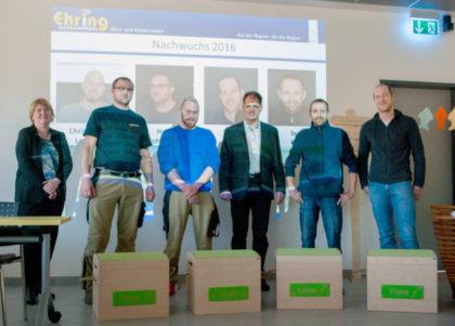 Christina Ehring, Harri Fuhrmann, Christian Lauer, Ralf Ehring, Sergej Kirsch und Michael Florien (v.l.). Foto: nh