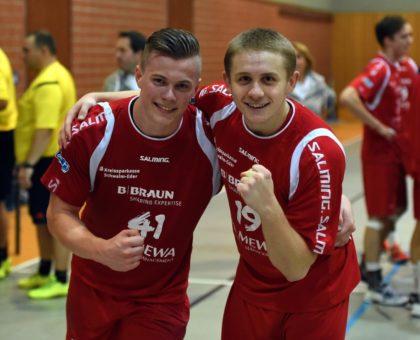 Die MT Jugend-Bundesligaspieler Finn Backs (li.) und Dimitri Ignatow. Foto: Hartung
