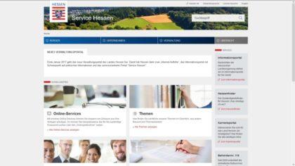 Screenshot des Portals service.hessen.de