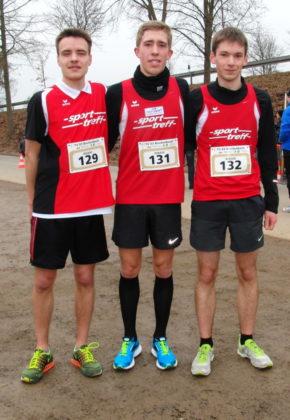 Christian Schulz, Lorenz Funck und Moritz Knaust belegten über 5 km der Männer die Plätze zwei bis vier. Foto: nh