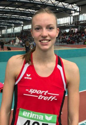 Katharina Wagner freute sich über ihre neue 60m-Bestzeit von 8,06 Sekunden und hofft, dass sie sich im Sommer weiter verbessern kann. Foto: nh