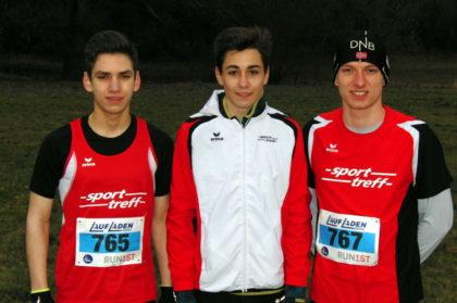 Marvin Knaust, Yannick Schleider und Eiko Berlitz sicherten sich die Teamwertung der U20 mit einem Punkt Vorsprung vor dem TSV Niederelsungen. Foto: nh