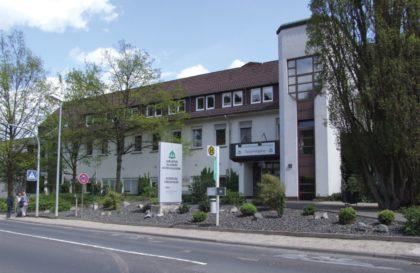 Außenansicht des Klinikums Melsungen. Foto: Klein