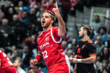 Kann Michael Allendorf seine gute Europapokalform auch in Finnland beweisen? Der MT-Linksaussen liegt in der EHF-Cup-Torjägerstatistik mit 27 Treffern auf Rang 2. Foto: Alibek Käsler