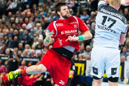 Momir Rnic (9/2 Treffer) war der beste Torschütze der Melsunger. Foto: Alibek Käsler